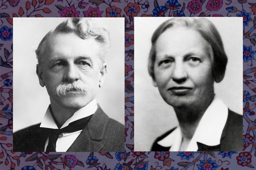"""Frederick and Charlotte D'Evelyn (<a rel=""""nofollow"""" href=""""https://compass.fivecolleges.edu/islandora/object/mtholyoke:21177"""""""