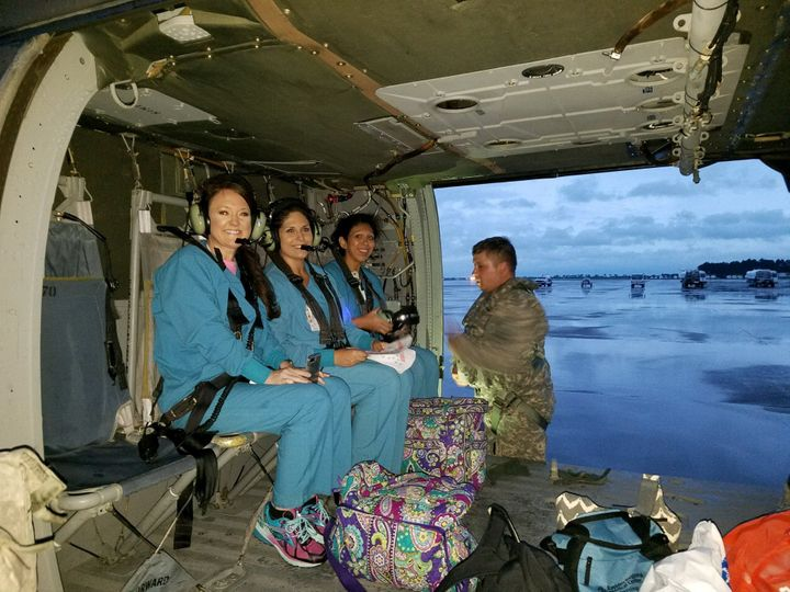 Beaumont's St. Elizabeth Hospital flew additional nurses in on a helicopter Wednesday night.