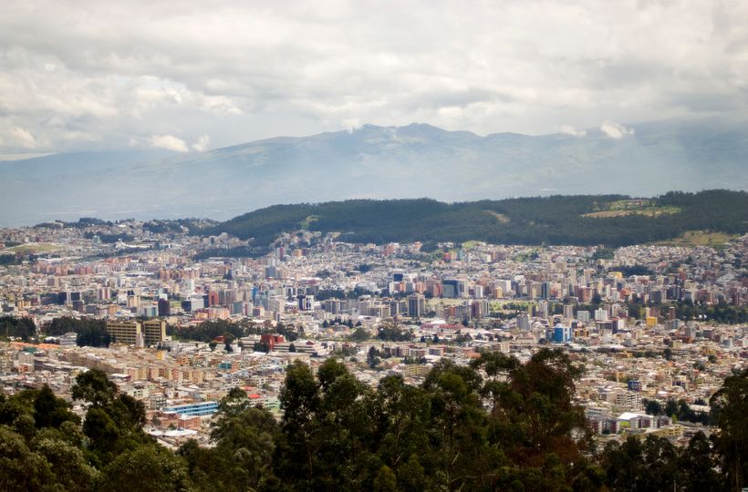 Quito, the capital city of Ecuador.
