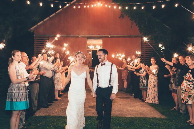 Kevin Walsh y Blake Moore en su boda, en septiembre de