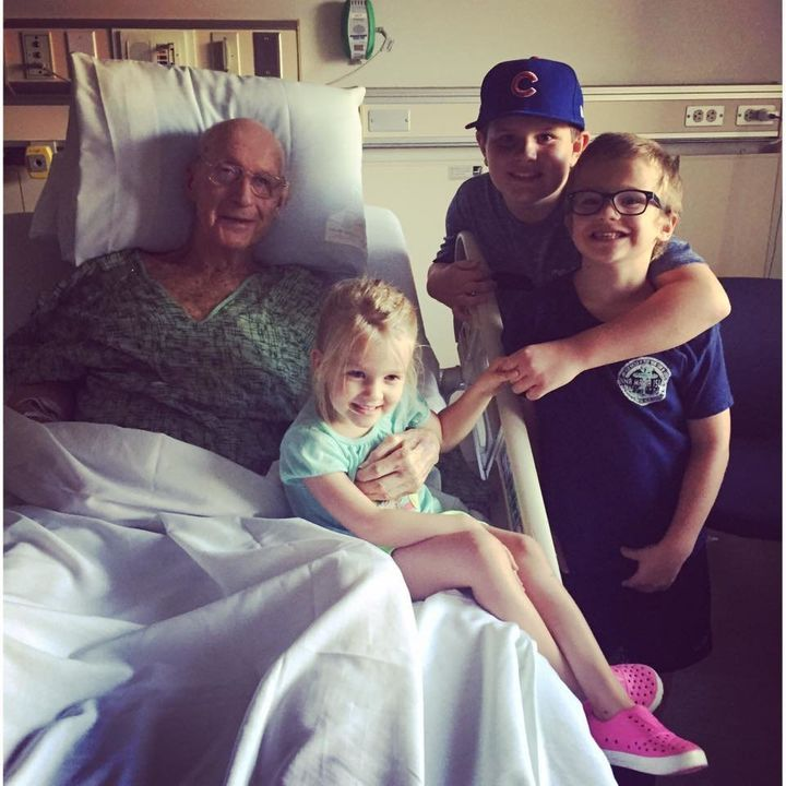 All three kids cheered Jim up during his hospital stay.