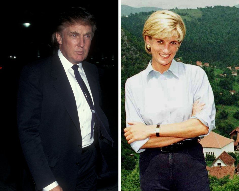 Donald Trump reportedly gave Princess Diana the creeps as he tried to win her affections fearing he was stalking her After she died the future president made gross sexists statements about her