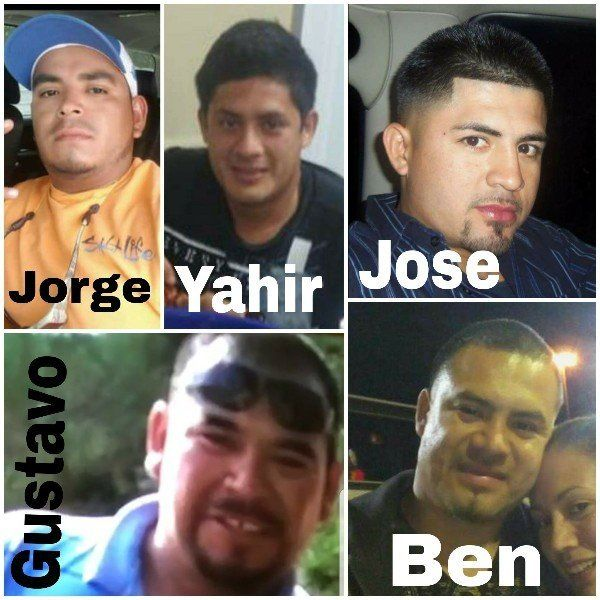 A GoFundMe account created for the victims' families shows the five men whose boat struck power lines as they were rescuing o