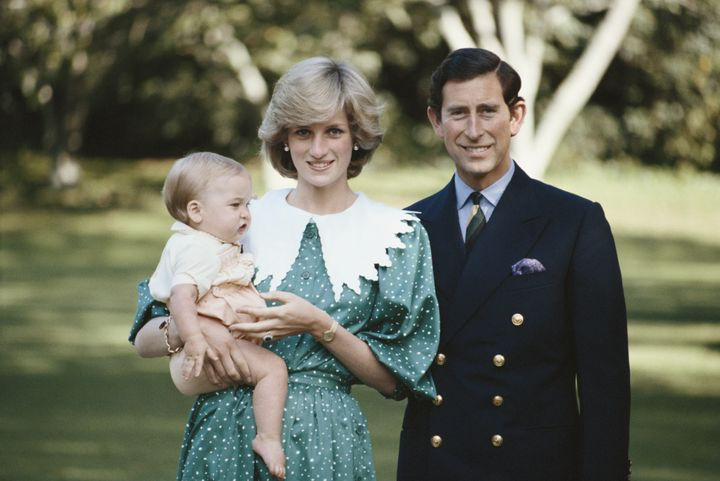 Princess Diana, Prince Charles and Prince William in New Zealand in 1983.