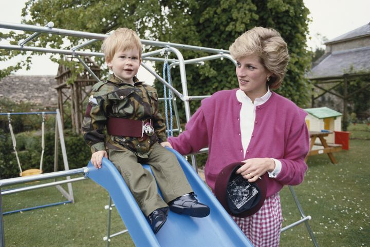 Princess Diana with Prince Harry in 1986.
