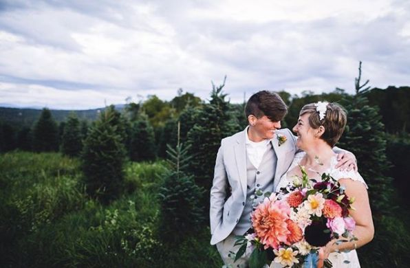 """Caitlin and Rachael's wedding had LOTS of laughter, high fives and a radiating love that encompassed the day. Congrats, you"