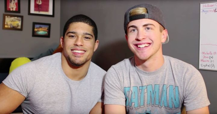 Pro wrestler Anthony Bowens opened up about his bisexuality and relationship with boyfriend Michael (right), with whom he rec