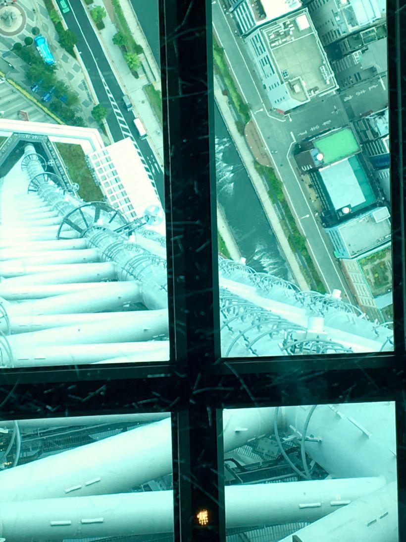 Vertigo-inducing views from the new viewing floor.