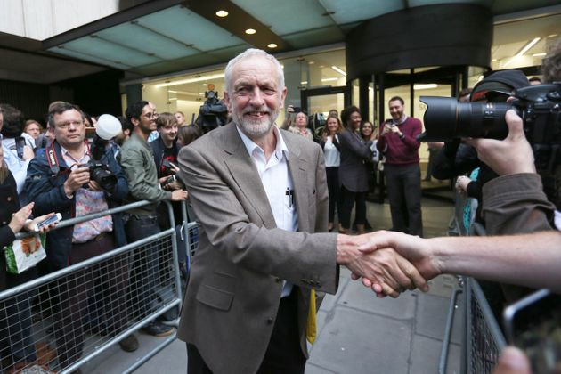 Jeremy Corbyn after an NEC meeting that guaranteed his leadership