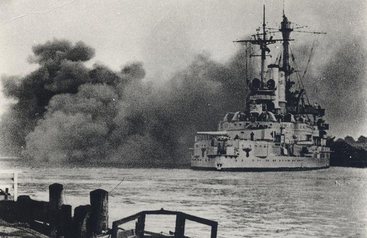 <p>Attack on Westerplatte, Gdansk, on September 1, 1939</p>