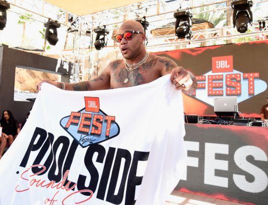 Rapper Flo Rida performs at JBL Poolside