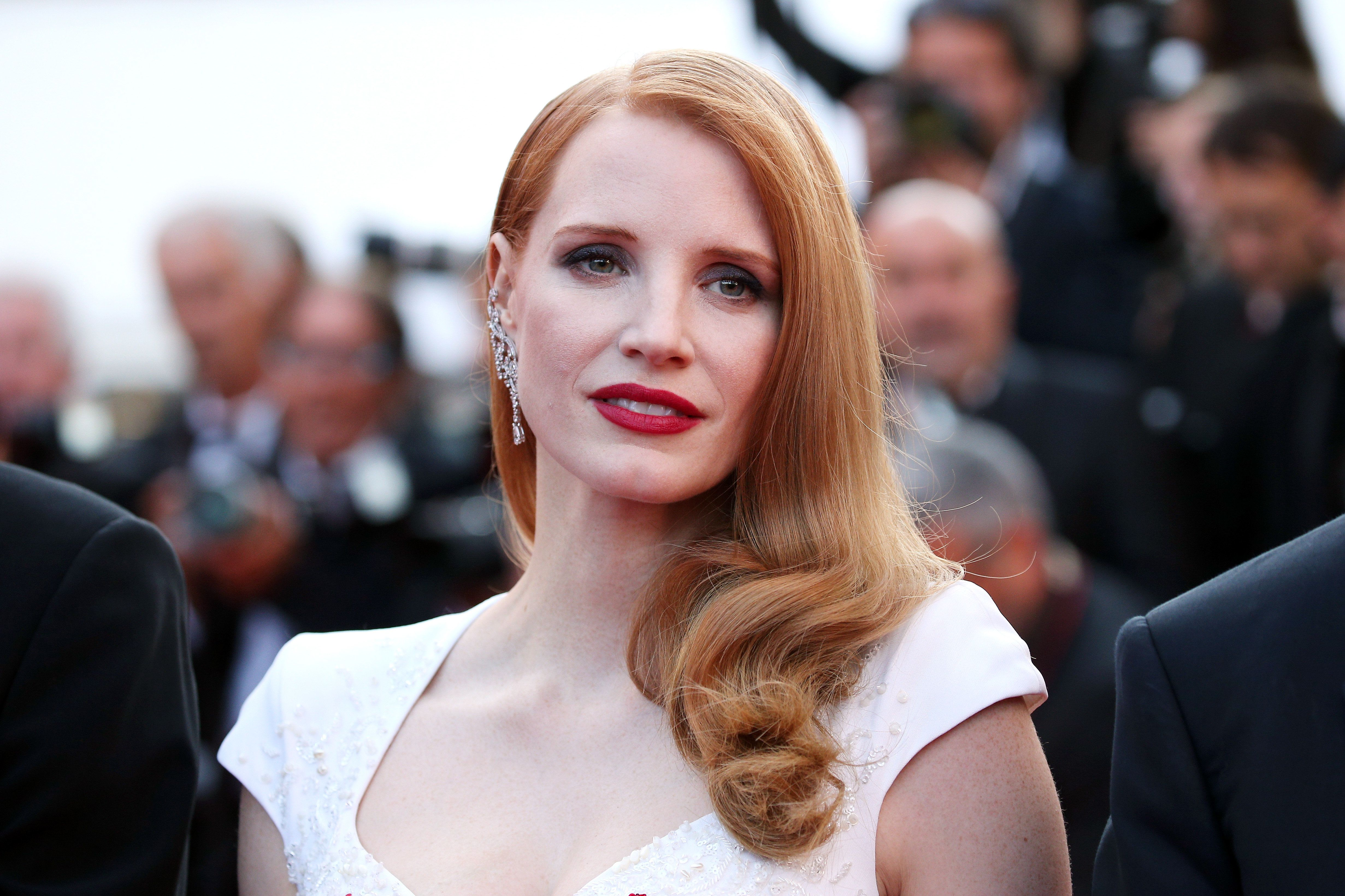 Jessica Chastain at Cannes Film Festival in 2017.