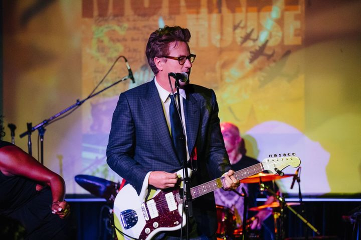 "Joe Scarborough performing at The Cutting Room on August 17th at the ""Welcome To The Monkey House"" party."