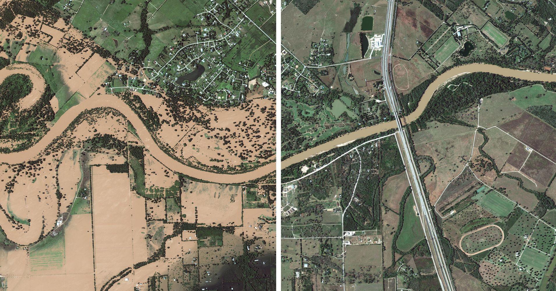 Las fotos de antes y después de Harvey que muestran la devastación del huracán