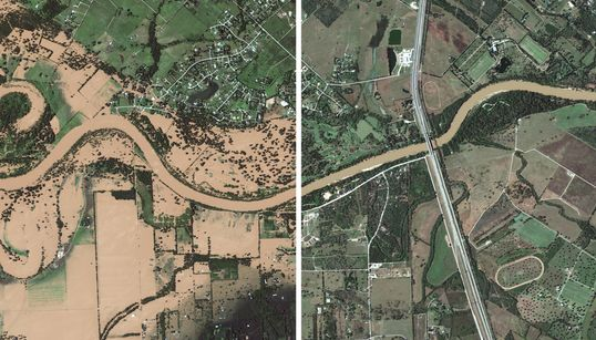 Before-And-After Satellite Photos Show Hurricane Harvey's