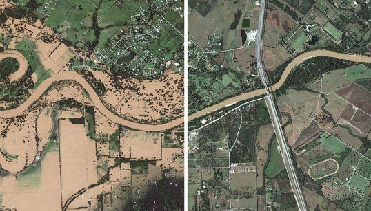 Las fotos de antes y después de Harvey que muestran la devastación del
