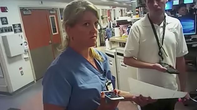 Nurse Alex Wubbels, just before her arrest by Detective Jeff