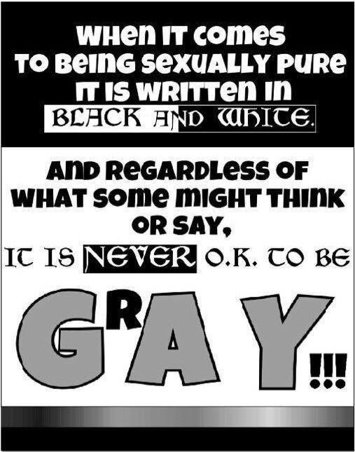 Leaflet distributed during Lubbock Pride (front)