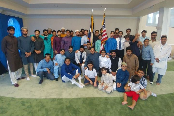 Members of the Houston Ahmadiyya Muslim community gathered at their local mosque for Eid al-Adha services on Friday befo
