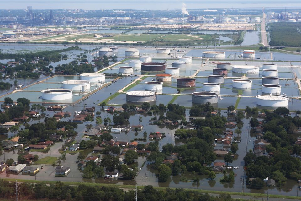 The storm damaged a number of industrial