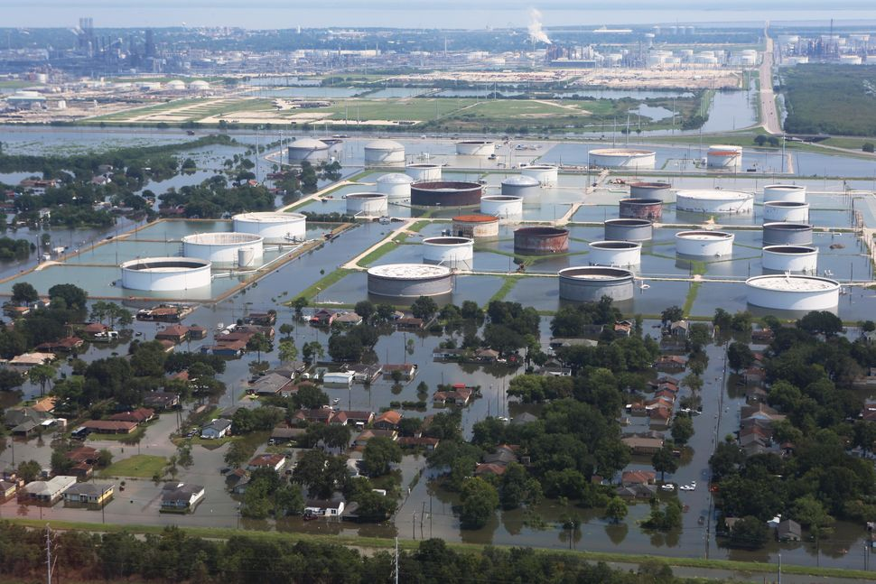 The storm damaged a number of industrial complexes.