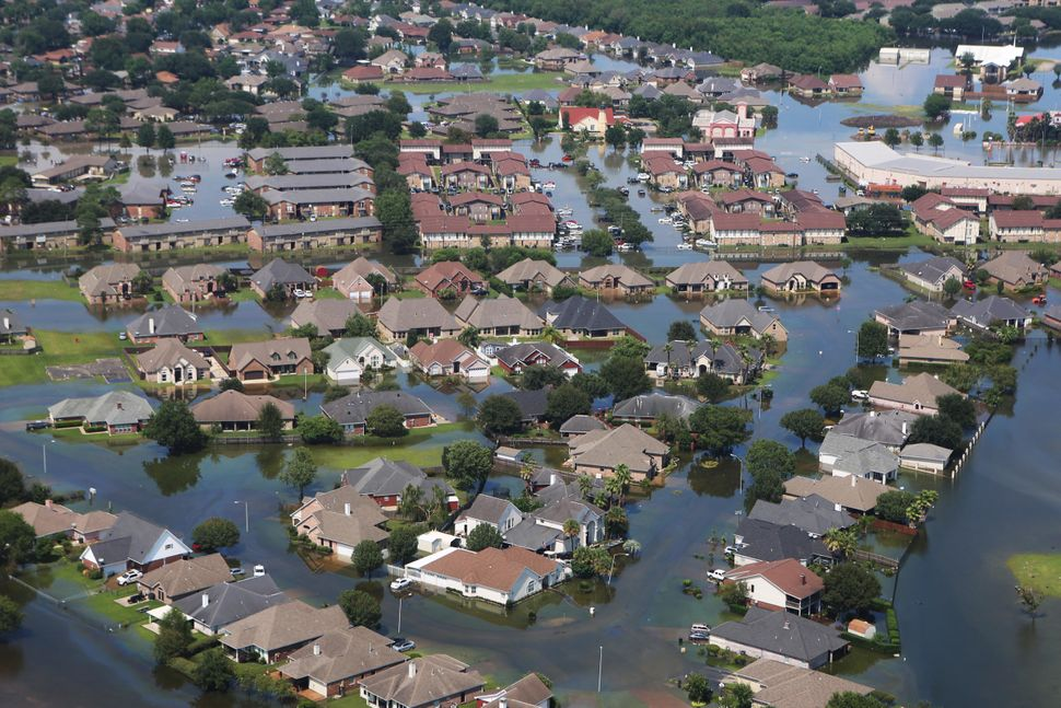 Flying over Port Arthur and Beaumont revealed widespread flooding and devastation from Hurricane Harvey.