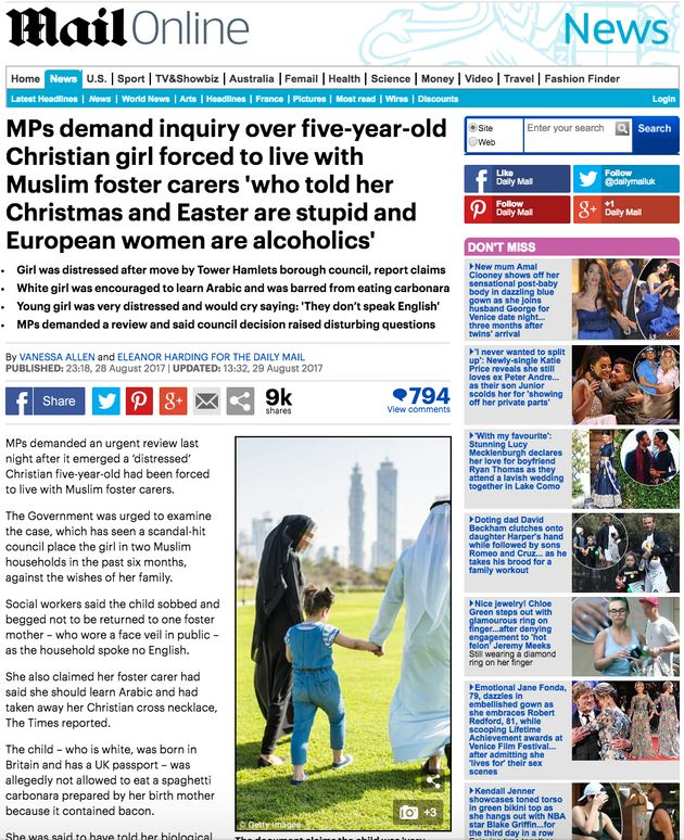 Mail Online And Metro Criticised For 'Photoshopped' Muslim Foster Story