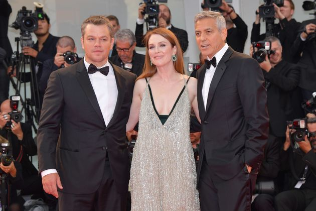 George Clooney, Julianne Moore and Matt Damon walk the red carpet at the 74th Venice Film