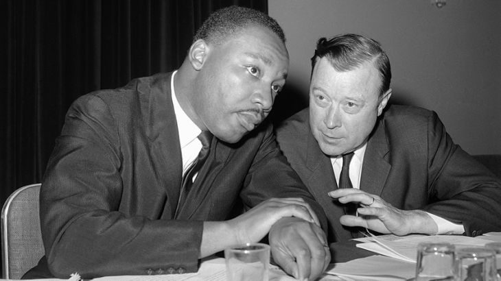 King with his friend and close ally Walter Reuther, president of the United Auto Workers union