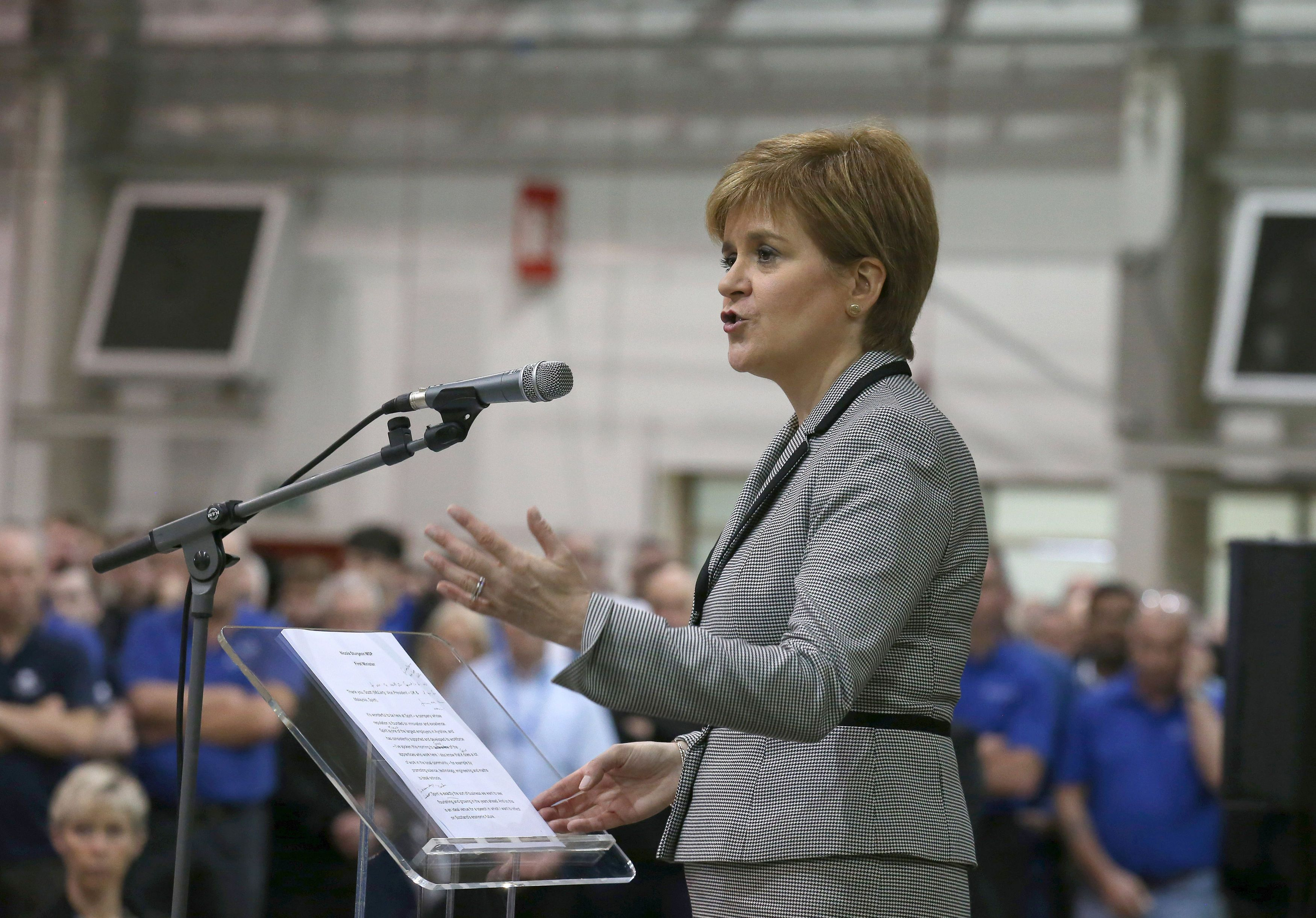 Nicola Sturgeon 'Will Scrap Public Sector Pay Cap' In