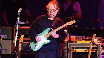 ATLANTA, GA - AUGUST 09:  Walter Becker of Steely Dan performs at Chastain Park Amphitheater on August 9, 2015 in Atlanta, Georgia.  (Photo by Chris McKay/Getty Images)