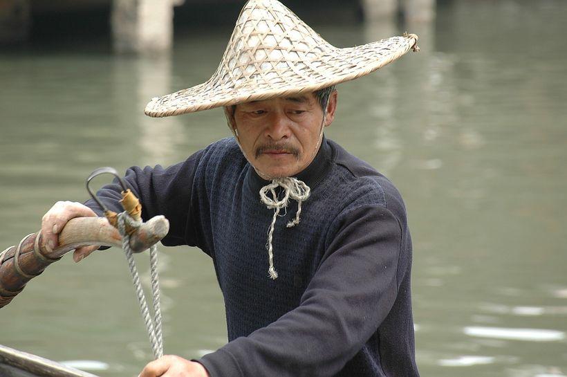 <em>A boatman at Wuzhen</em>