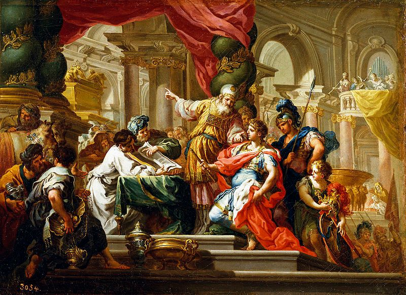Alexander the Great in the Temple of Jerusalem. Sebastiano Conca,, 1736