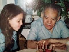 P.M Yitzhak Shamir with his granddaughter Michal Diamant