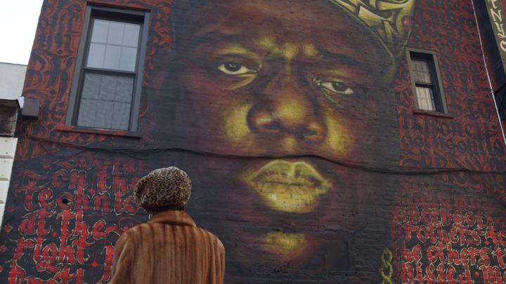 Biggie remembered on a Brooklyn wall.