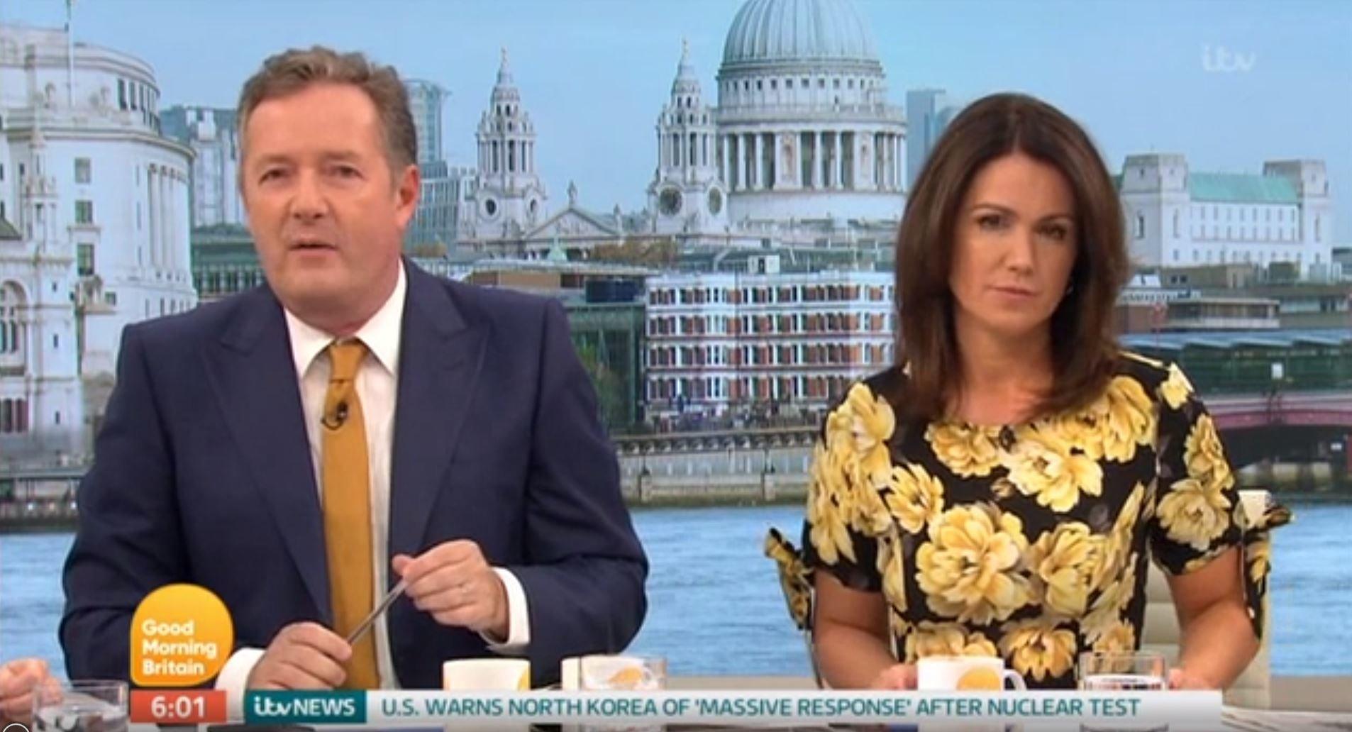 Piers Morgan and Susanna Reid returned to work on