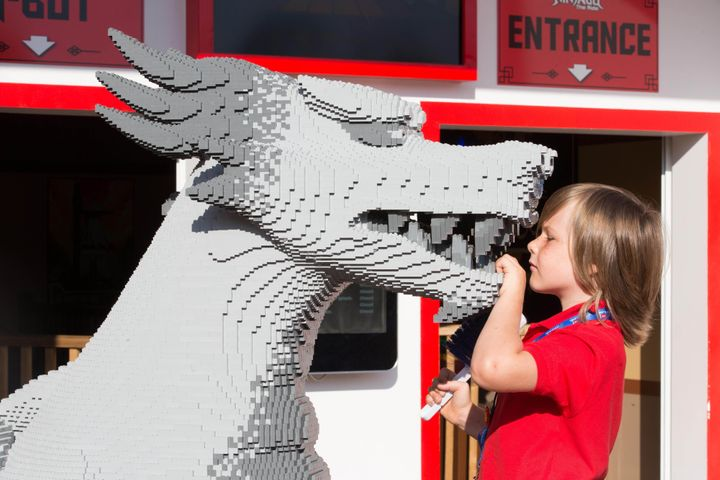 "Stanley Bolland undertakes some work experience as a ""Lego Model Maker"" at the Legoland Windsor Resort in Berkshire.&nbs"