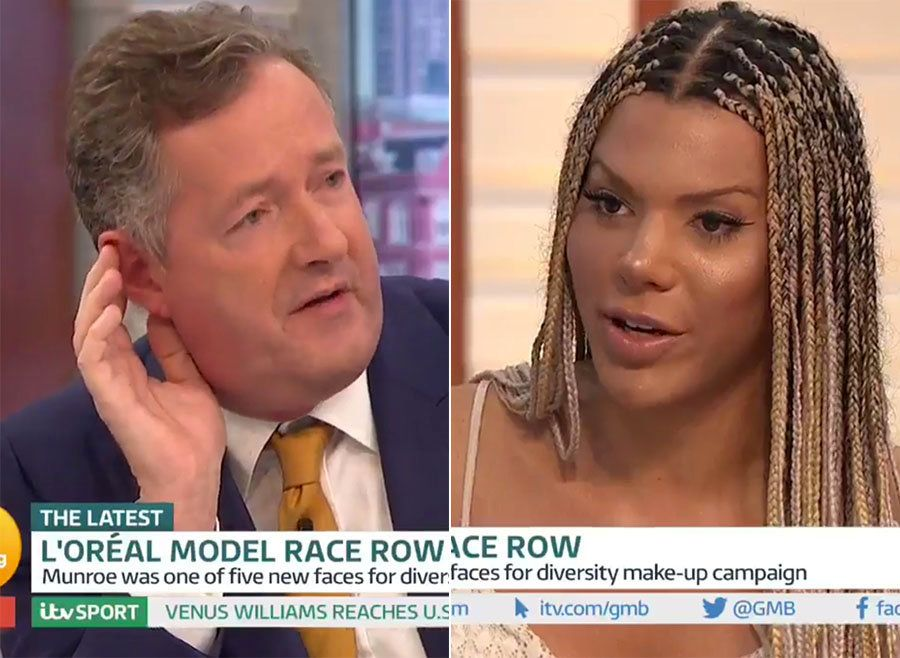 Fired L'Oréal Model Munroe Bergdorf Holds Her Own Against Piers Morgan In 'GMB'