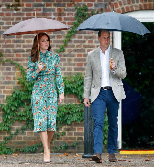 William and Kate visiting the Sunken Garden at Kensington Palace on 30 August. It was transformed into...