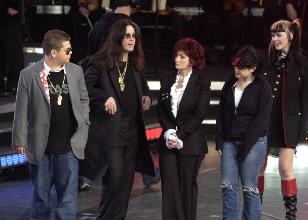 Sharon and Ozzy with their three children, Jack, Kelly and