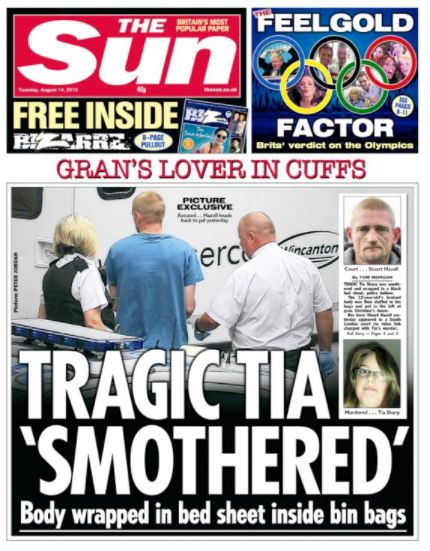 Tia's body was found in the loft of the house Hazell shared with Tia's