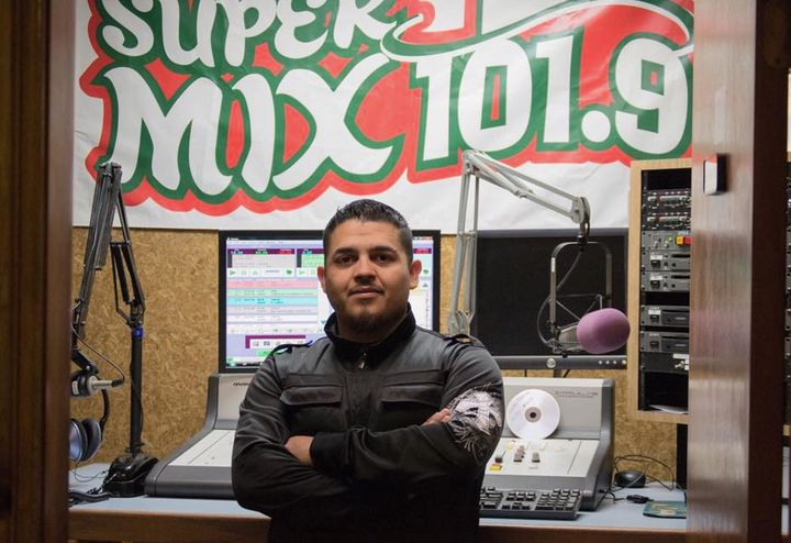 SuperMix 101.9 FM, where Alonso Guillen worked as a disc jockey under the name DJ Ocho, posted a photo to commemorate hi