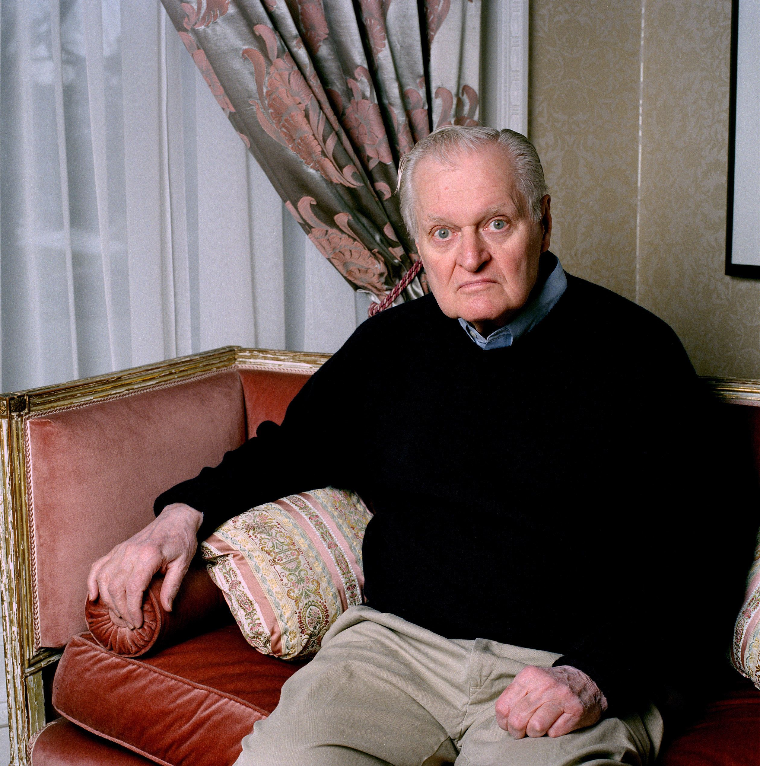 Portrait of John Ashbery (1927 - 2017), American Pulitzer Prize-winning poet, at home in Hudson, New York, 2010. (Photo By Eamonn McCabe/Getty Images)