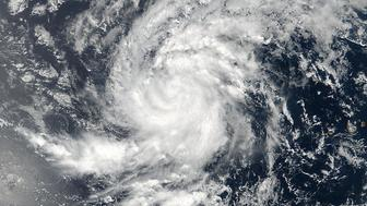 Satellite image of Tropical Storm Irma pictured here in the Eastern Atlantic Ocean on August 30, 2017. Image taken August 30, 2017.  NASA/NOAA /Goddard Rapid Response Team/Handout via REUTERS     ATTENTION EDITORS - THIS IMAGE WAS PROVIDED BY A THIRD PARTY.