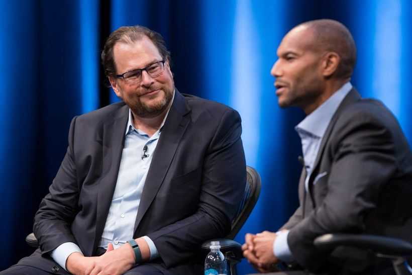 "<a rel=""nofollow"" href=""https://en.wikipedia.org/wiki/Marc_Benioff"" target=""_blank"">Marc Benioff</a> and <a rel=""nofollow"" hr"