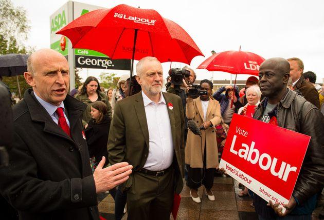 Shadow Housing Secretary John Healey with Jeremy