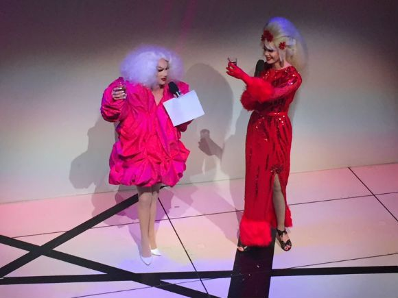 l to r: Sasha Velour and Olive d'Nightlife