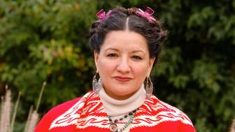 PARIS - OCTOBER 16: (FILE PHOTO) Author Sandra Cisneros poses while at Book Fair America held in Paris,France on the 16th of October 2004. (Photo by Ulf Andersen/Getty Images)
