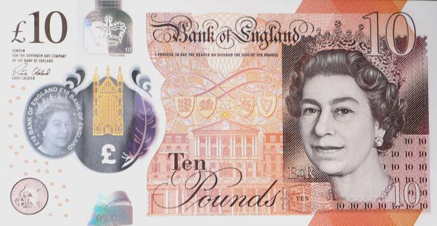 The £10 is the second polymer note to be brought into