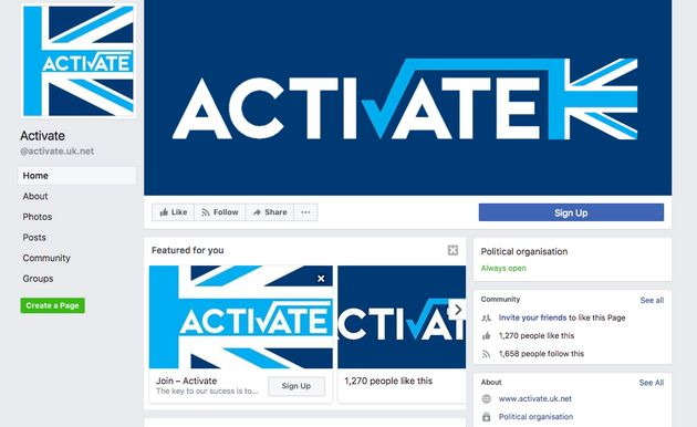 The Activate Facebook page has over a thousand